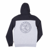 Men's Full-Zip Hoodie Sweatshirt with Icon Logo, Black/Gray - Image 2 de 2