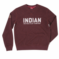 Men's Crew Sweatshirt with Block Printed Logo, Port