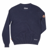Men's Pull-Over Knit Sweater with Block Logo, Navy - Image 2 of 2
