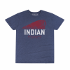 Men's Hand-Painted Headdress T-Shirt, Navy - Image 1 of 1