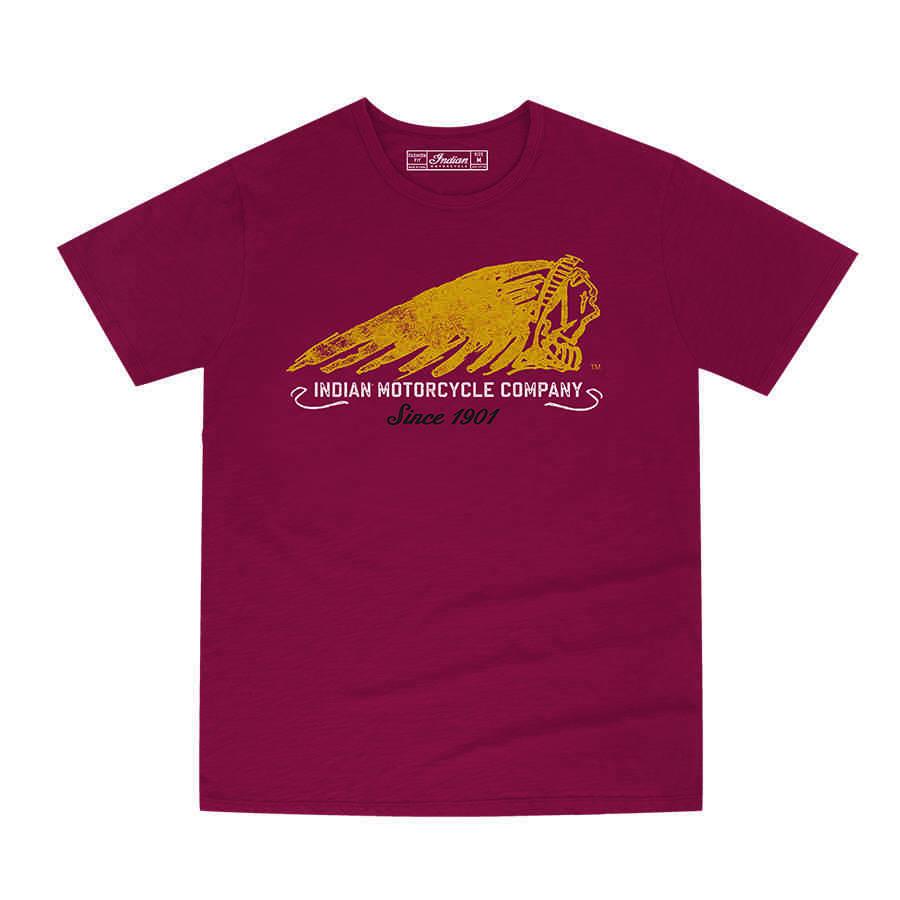 Men's Hand-Painted Headdress T-Shirt, Red