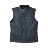 Men's Casual Retro Waxed Cotton Vest, Black - Image 1 de 7