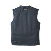 Men's Casual Retro Waxed Cotton Vest, Black - Image 2 de 7