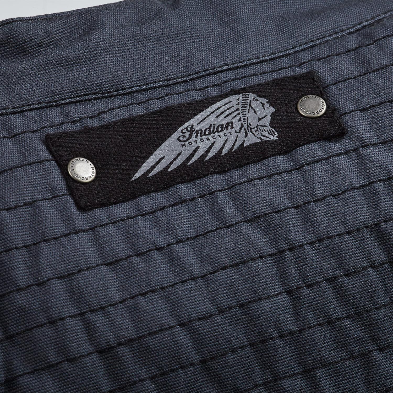 miniature 11 - Indian Motorcycle Men's Casual Retro Waxed Cotton Vest, Black