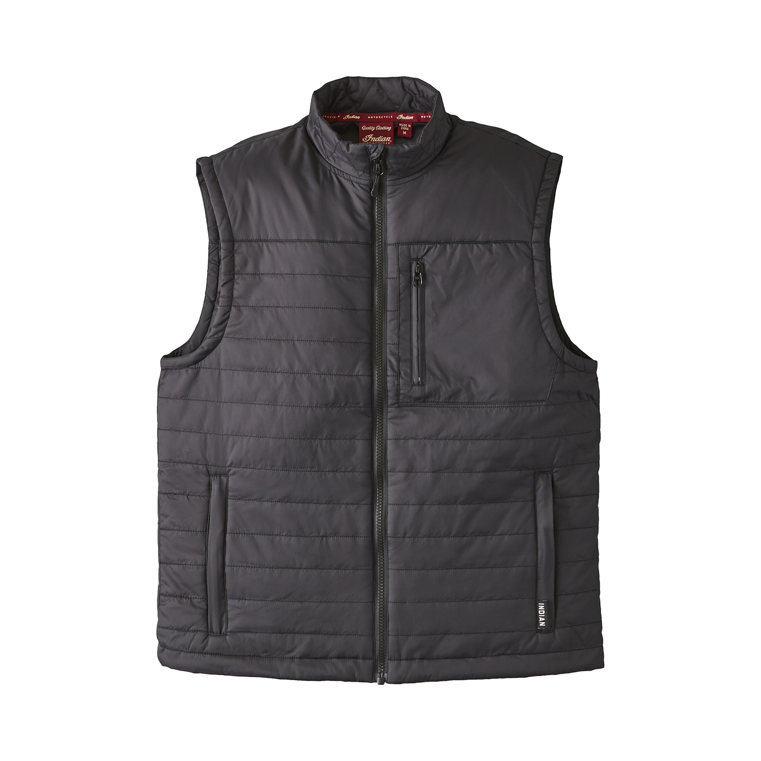 miniature 6 - Indian Motorcycle Men's Thermo Zip-Up Undervest, Black
