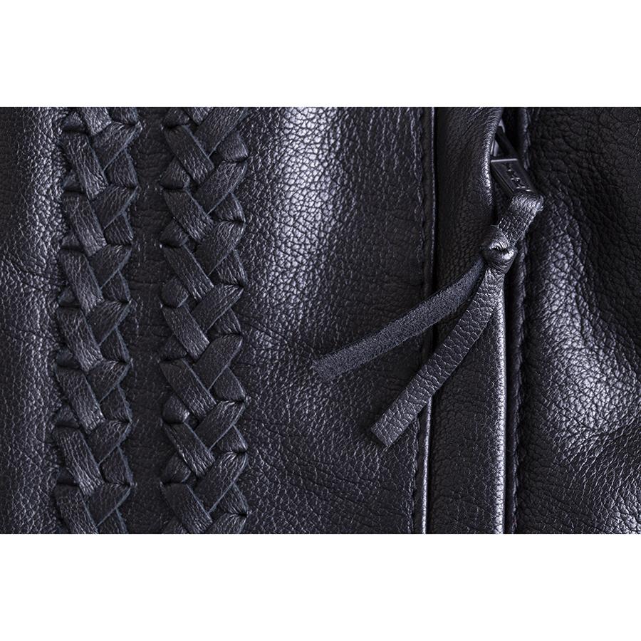 miniature 15 - Indian Motorcycle Women's Leather Charlotte Vest, Black