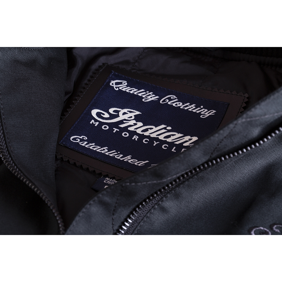 miniature 16 - Indian Motorcycle Women's Casual Bomber Jacket, Black
