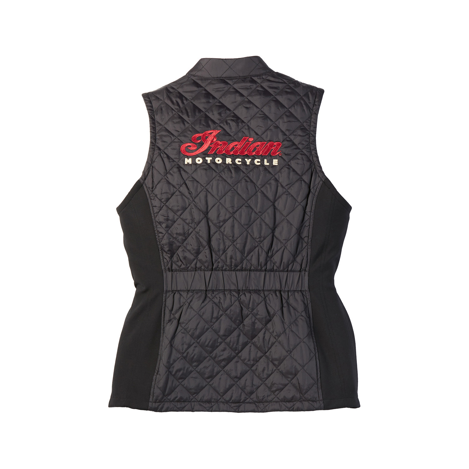 miniature 7 - Indian Motorcycle Women Textile Quilted Vest, Black