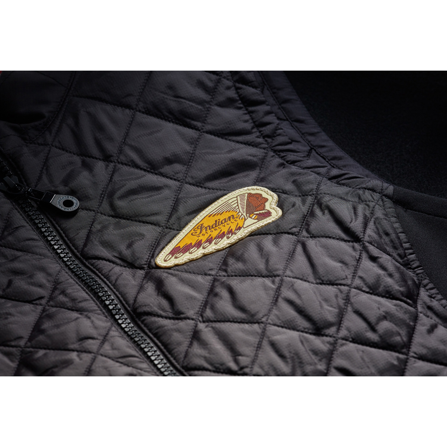 miniature 8 - Indian Motorcycle Women Textile Quilted Vest, Black