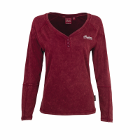 Women's Long-Sleeve Henley T-Shirt, Port