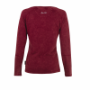 Women's Long-Sleeve Henley T-Shirt, Port - Image 2 of 2