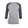 Women's Long-Sleeve Raglan T-Shirt with Script Logo, Gray/Charcoal - Image 2 of 2