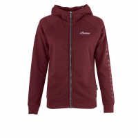 Women's Full-Zip Hoodie Sweatshirt with Block Logo Hood, Port