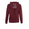 Women's Zip-Up Hoodie Sweatshirt with Block Logo Hood, Port - Image 2 of 2