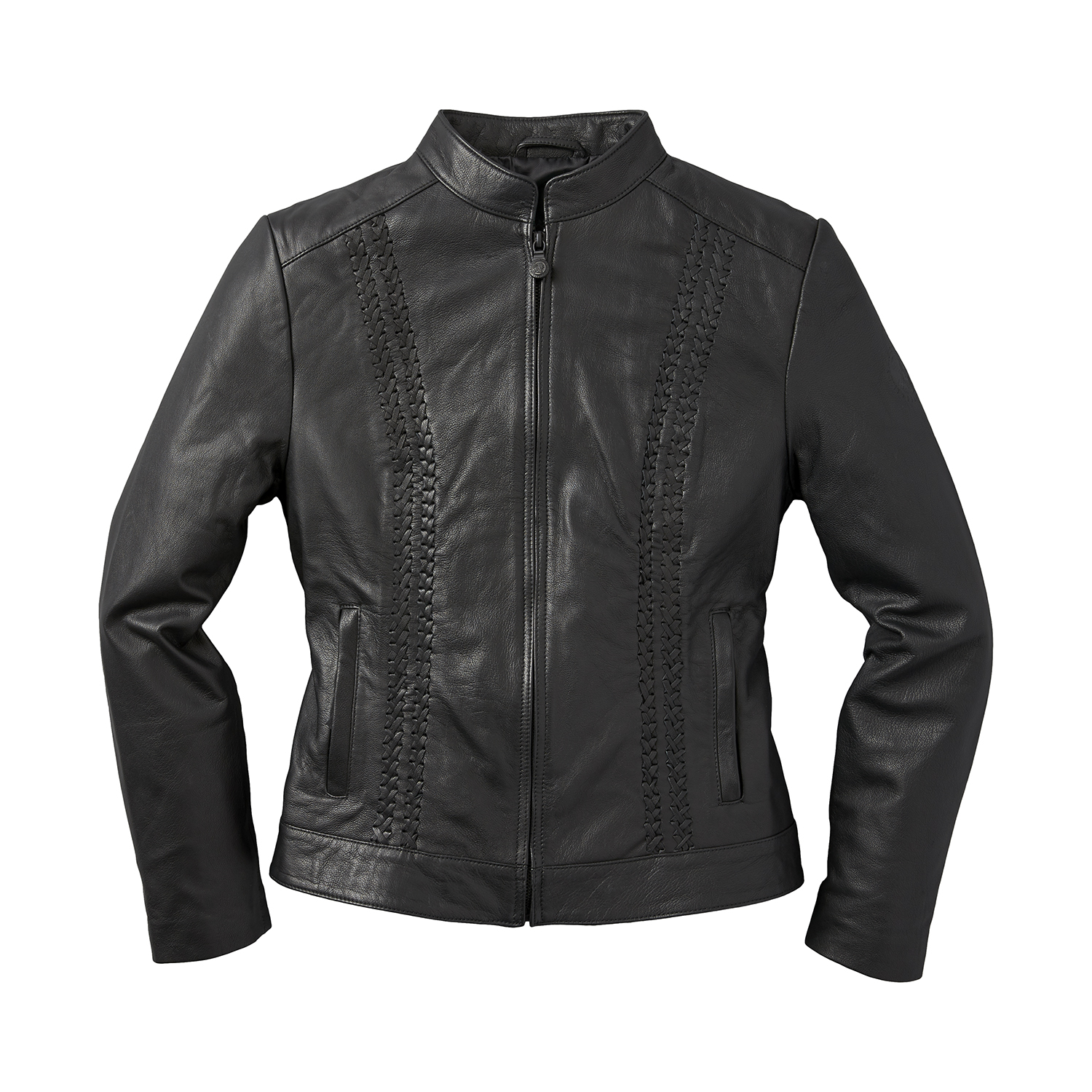 miniature 12 - Indian Motorcycle Women's Leather Charlotte Casual Jacket, Black
