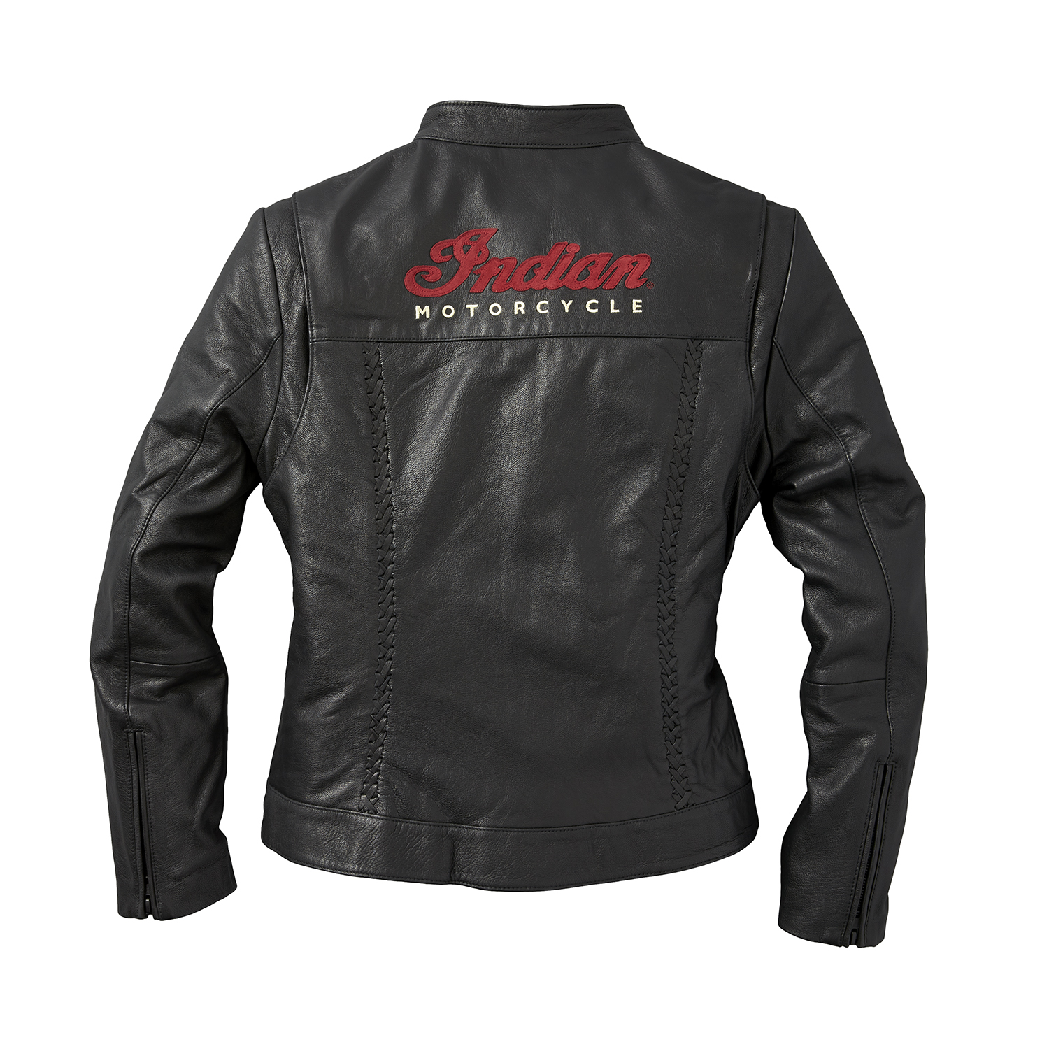 miniature 14 - Indian Motorcycle Women's Leather Charlotte Casual Jacket, Black