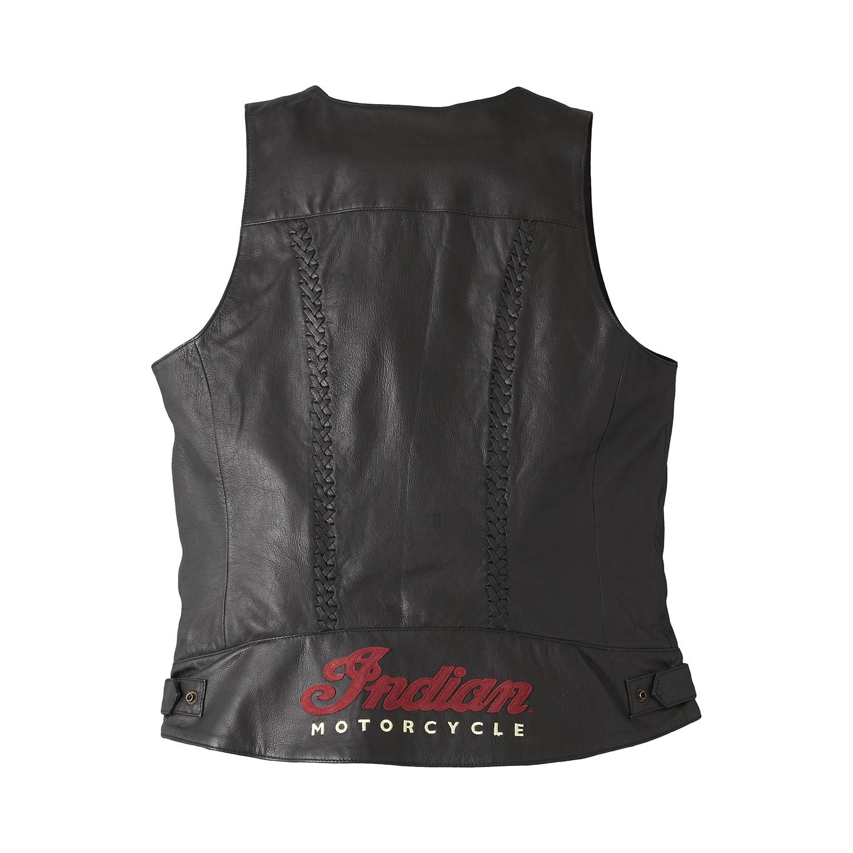 miniature 11 - Indian Motorcycle Women's Leather Charlotte Vest, Black