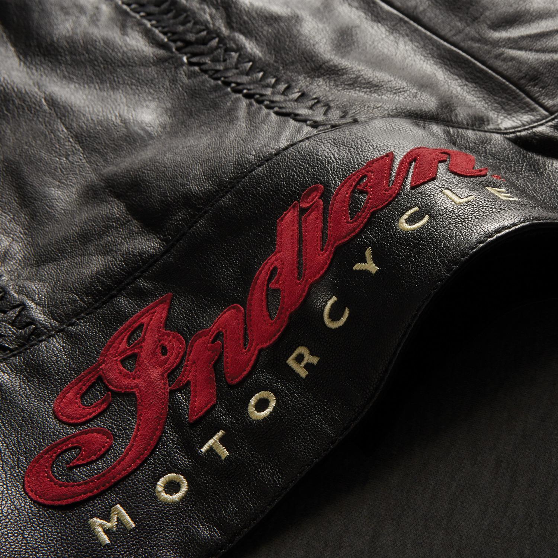 miniature 13 - Indian Motorcycle Women's Leather Charlotte Vest, Black