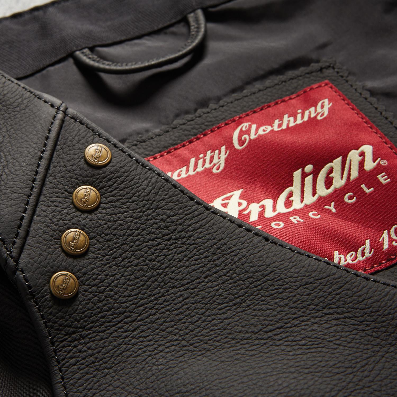 miniature 10 - Indian Motorcycle Women's Classic Leather Vest, Black