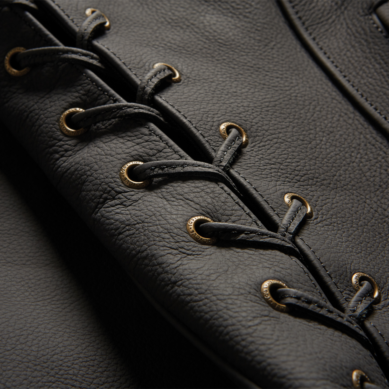 miniature 8 - Indian Motorcycle Women's Classic Leather Vest, Black
