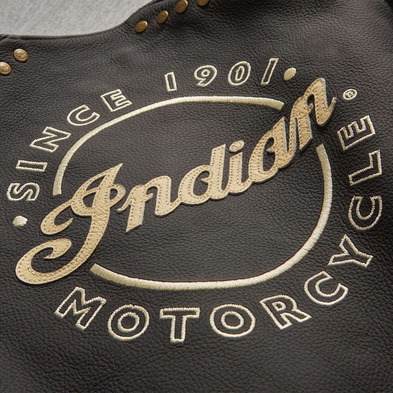 miniature 9 - Indian Motorcycle Women's Classic Leather Vest, Black