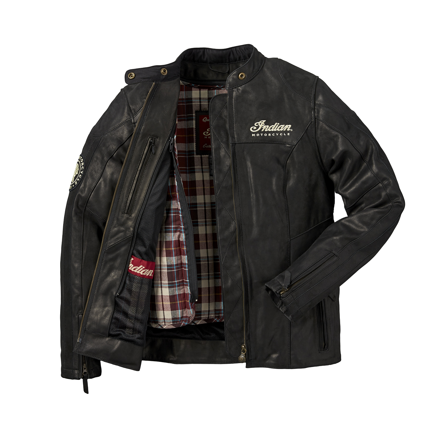 miniature 10 - Indian Motorcycle Women's Leather Effie Casual Jacket with Removable Lining