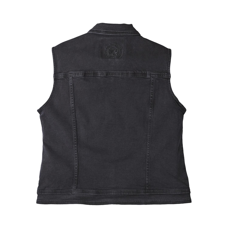 miniature 7 - Indian Motorcycle Women's Denim Lana Vest, Black