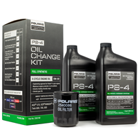 Polaris Full Synthetic Oil Change Kit, Fits ACE Ranger RZR Sportsman, 2202166, 2 Quarts of PS-4 Engine Oil and 1 Oil Filter