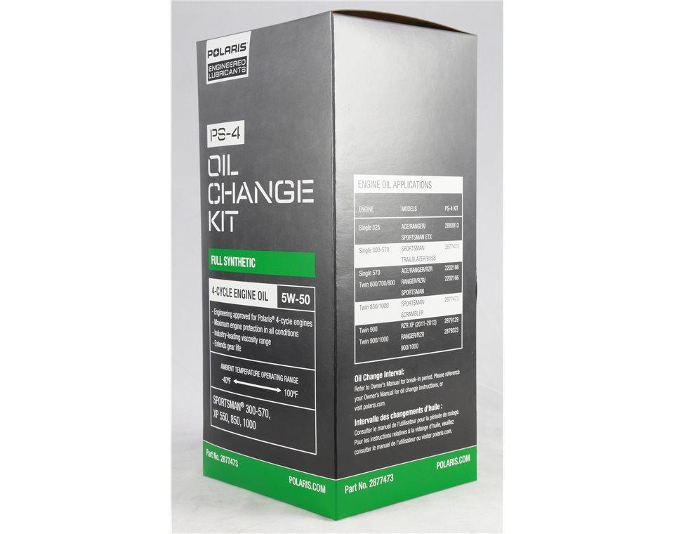 Polaris Engineered™ Oil Change Kit - 2877473 | Polaris Lubricants