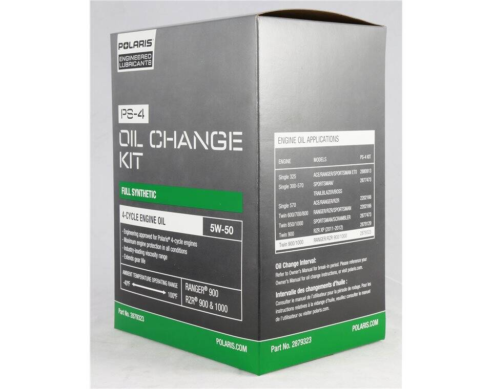5W-50 2.5 qt. Full Synthetic PS-4 Oil Change Kit, Genuine OEM Part 2879323
