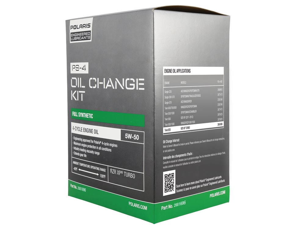 PS-4 5W-50 Oil Change Kit, Genuine OEM Part 2881696