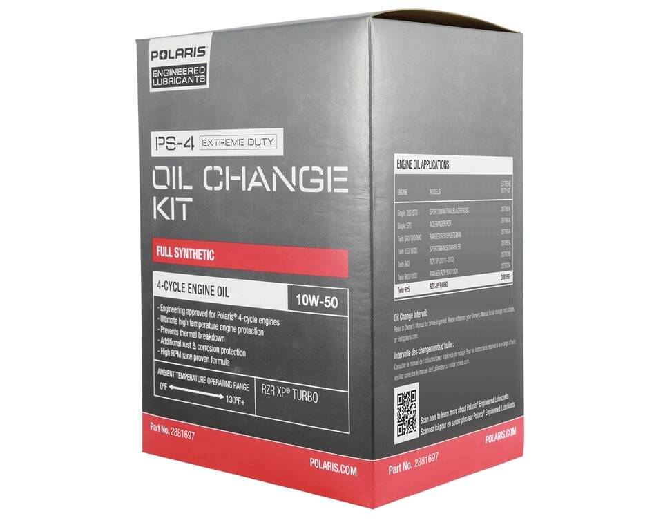 PS-4 Extreme Duty Oil Change Kit - 2881697