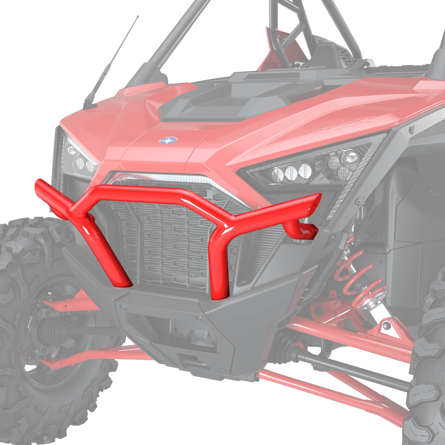 Front Low Profile Bumper - Indy Red