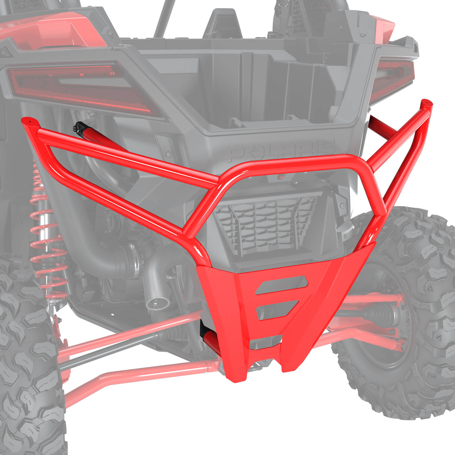 High Coverage Rear Bumper - Indy Red