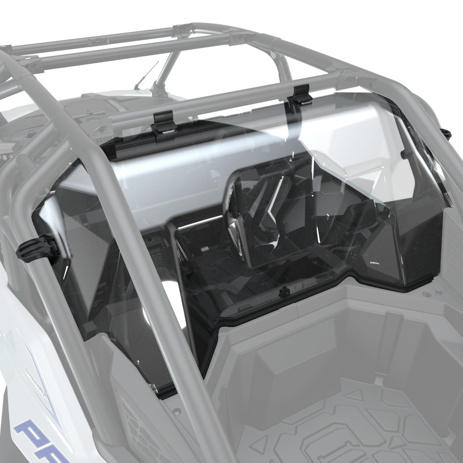 4-Seat Hard Coat Poly Rear Panel