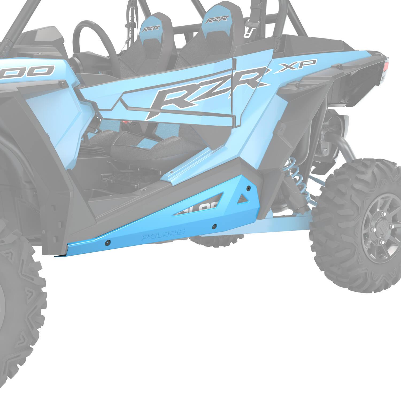 2-Seat Low Profile Rock Sliders - Indian Sky Blue