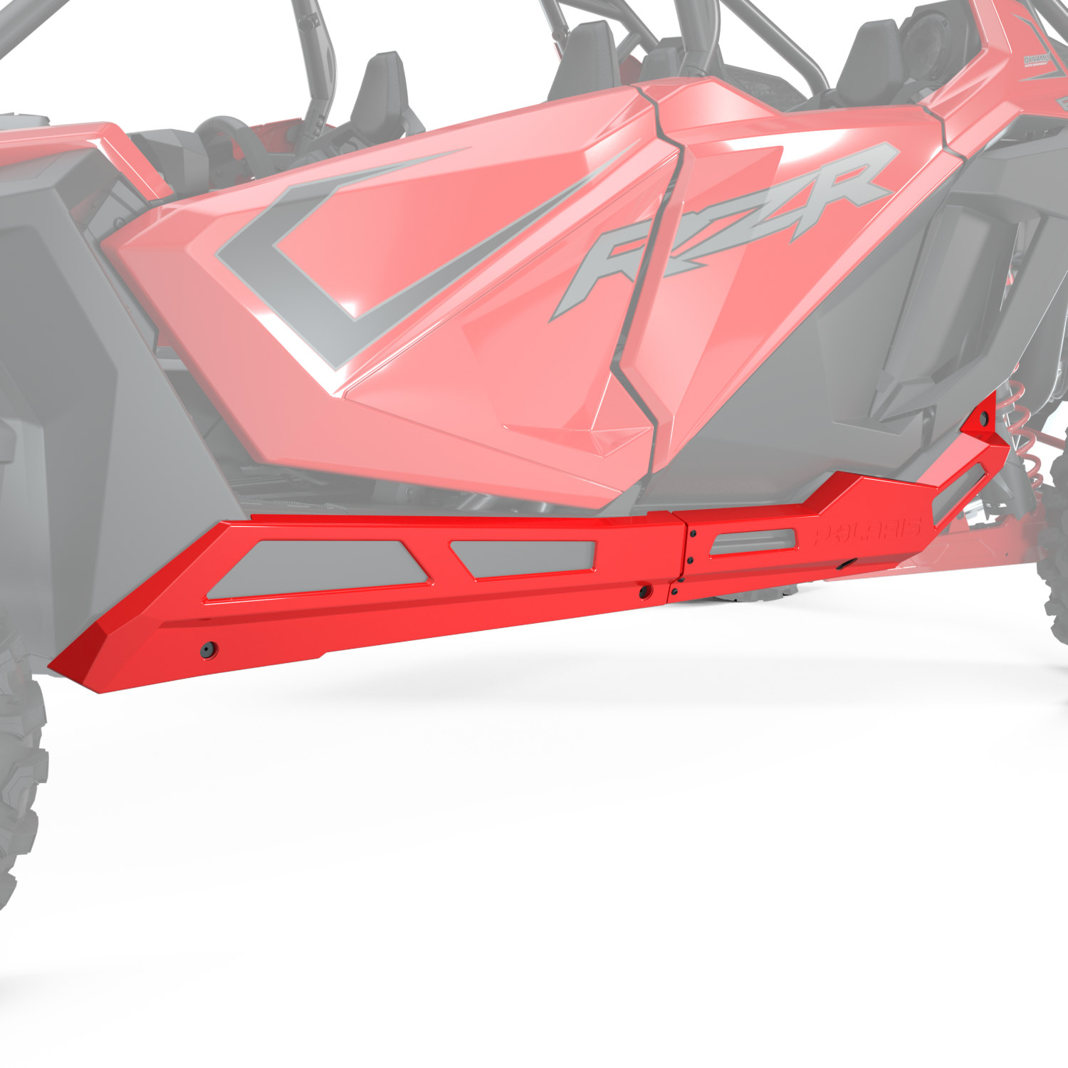 4-Seat Low Profile Rock Sliders, Indy Red