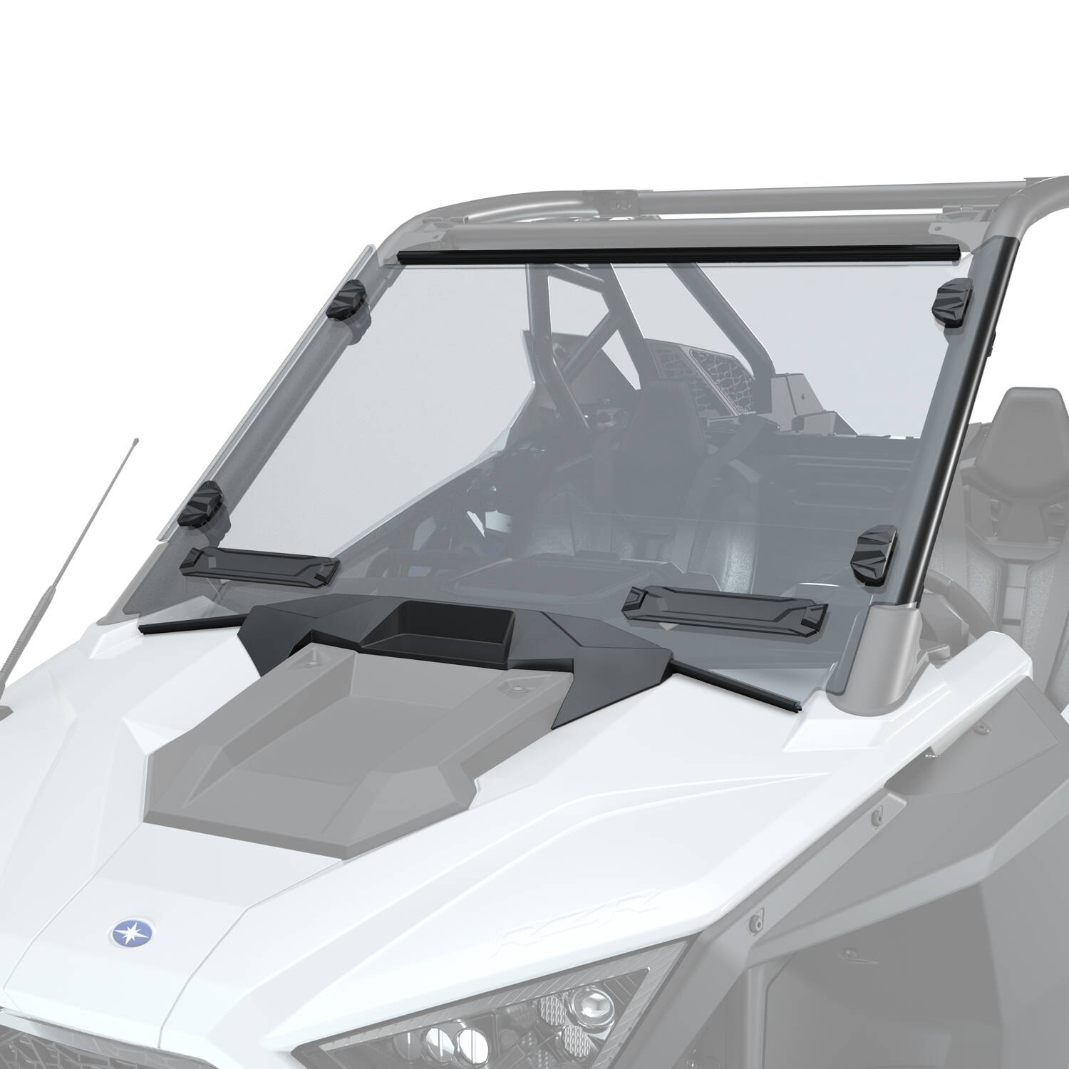 Hard Coat Poly Full Vented Windshield