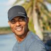 Men's (L/XL) Premium Hat with Slingshot Logo, Black - Image 2 de 2
