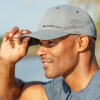 Men's Premium Hat with Slingshot Logo, Gray - Image 2 of 2