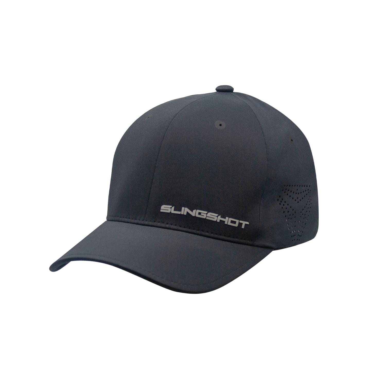 Men's (S/M) Premium Hat with Slingshot Logo, Black