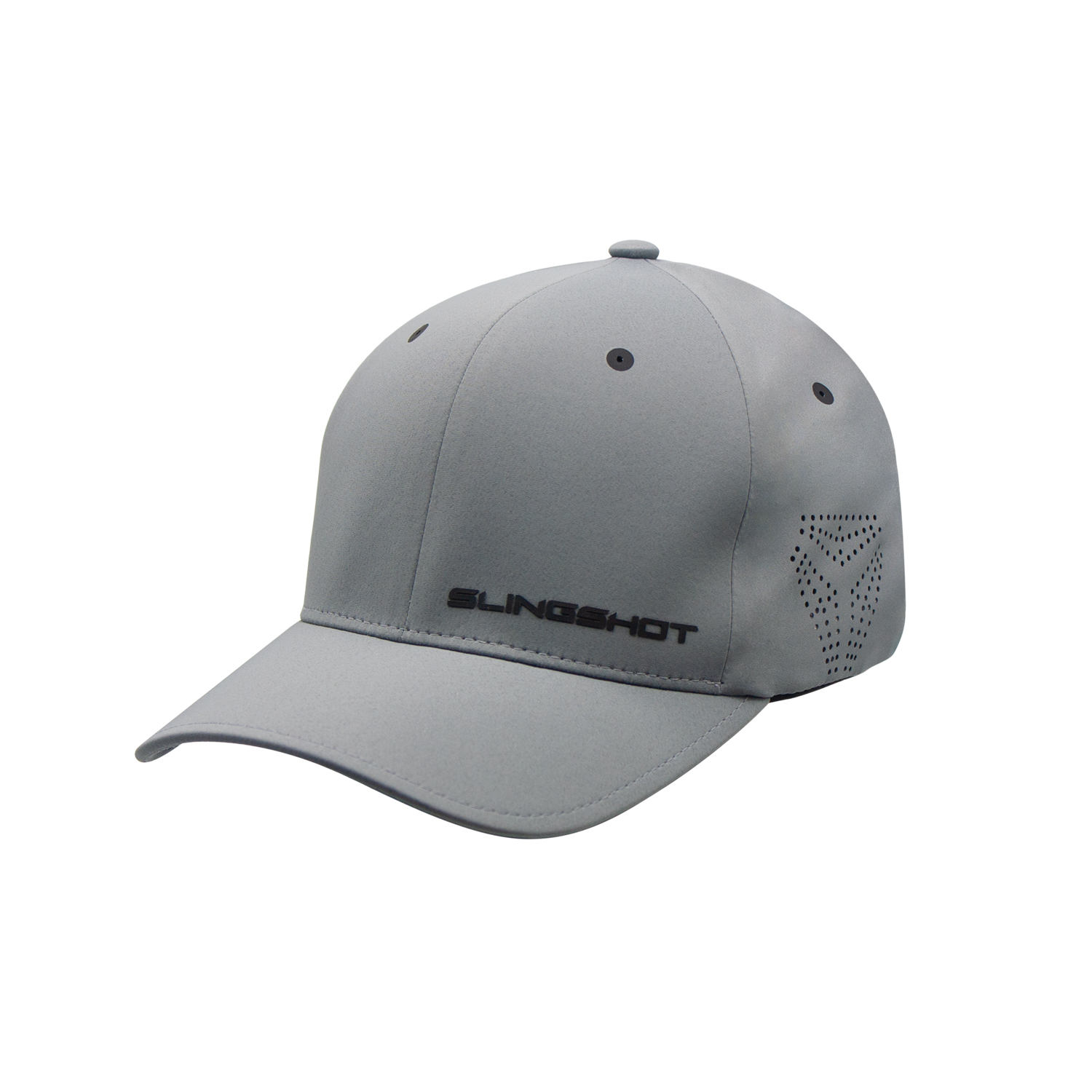 Men's Premium Hat with Slingshot Logo, Gray