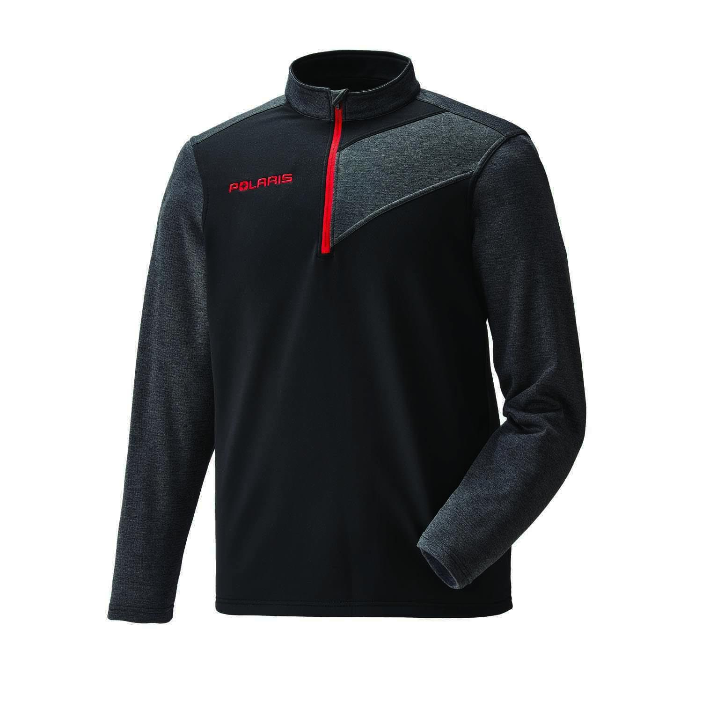 Men's Long Sleeve Tech 1/4 Zip - Black/Red