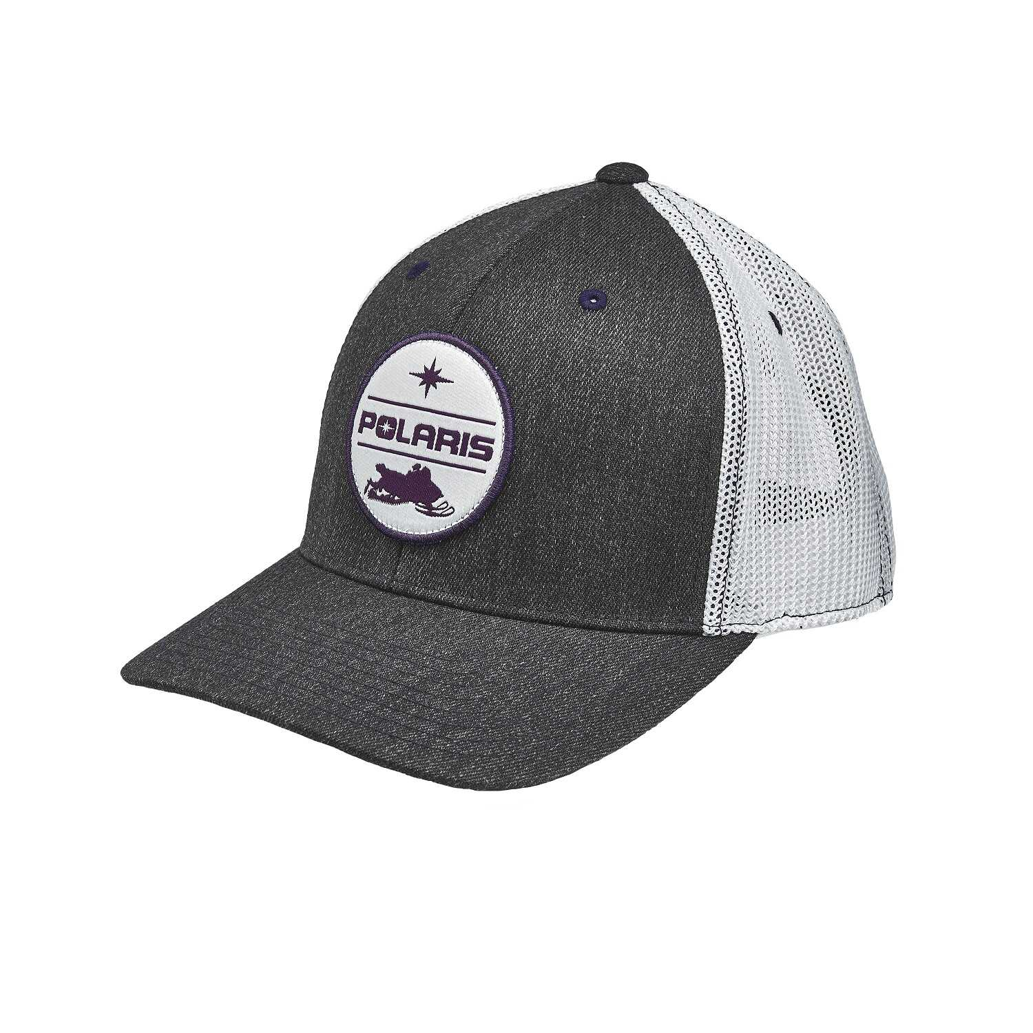 Women's Adjustable Mesh Snapback Hat with Polaris® Snow Patch, Gray/White