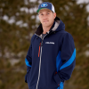 Men's Softshell Jacket with White Polaris® Logo, Navy - Image 3 of 5