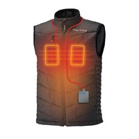 Men's Heated Vest with Rechargeable Battery, Black