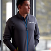 Men's Full-Zip Mid Layer Jacket with White Polaris® Logo, Gray - Image 3 of 3