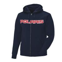 Men's Full-Zip Core Hoodie Sweatshirt with Polaris® Logo, Navy