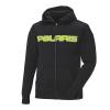 Men's Full-Zip Core Hoodie Sweatshirt with Polaris® Logo, Black/Lime - Image 1 of 4