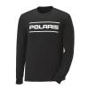 Men's Long-Sleeve Dash Shirt with Polaris Logo, Black - Image 1 de 2